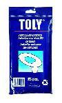"""Одноразовые покрытия на унитаз """"TOLY"""". 25 покрытий в индивидуальной упаковке."""